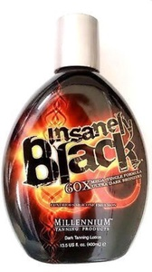 Insanely Black Hot Tingle Tanning Bed Lotion w/ Bronzer 13.5 Fl. Oz. (400ml) by Millennium