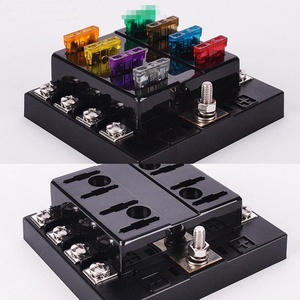Eaglerich Car Fuse Box 8 Way Circuit 32V DC Blade Fuse Holder Box Block with Pre-printed Sticker for Car Boat Auto