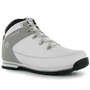 Mens Firetrap Rhino Boots Shoes White Grey (UK 7 / US 7.5)
