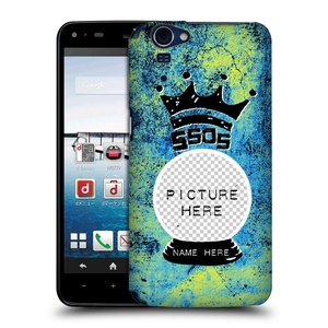 Custom Customized Personalized 5 Seconds Of Summer Glass Mixed Icons Hard Back Case for Sharp Aquos Zeta SH-01F