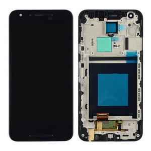 Black LG Google Nexus 5X H790 H791 Touch Lcd Display Assembly With Frame