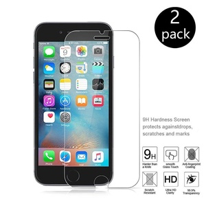 HYstore Anti-Explosion Full Coverage High Definition (HD) Crystal Clear Protective Case Tempered Glass Screen Protector for iPhone 6 6S (2 Pack) (For iPhone 6/6s)