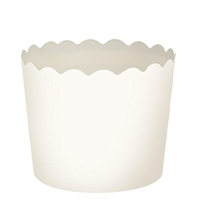 Blue Sky 1265 20 Count Scalloped Cupcake Baking Cups, Small, White by Blue Sky