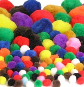 100pk Fluffy Pom-Poms by CI