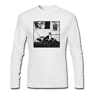 Giroppon for Men Printed Long Sleeve Cotton T-shirt