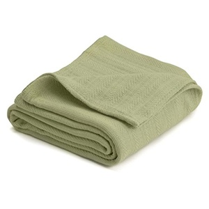 West Point Vellux Cotton Blanket Full/Queen Green