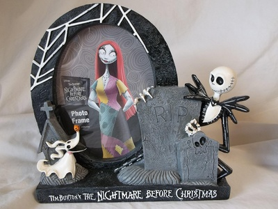 Disney's / Tim Burton's the Nightmare Before Christmas Jack Skellington resin photo picture frame