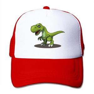 T-Rex Cartoon Dinosaurs Mesh Hat Trucker Baseball Cap Red