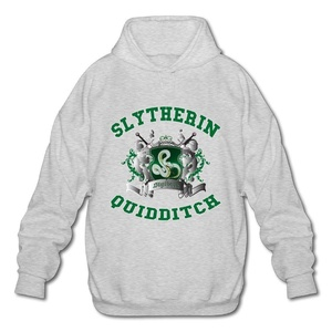 NUBIA Men's Harry Slytherin Quidditch Potter Long Sleeve Sweater Ash XL