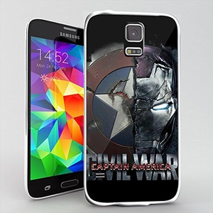 captain america civil war superhero for Samsung Galaxy S5 White case