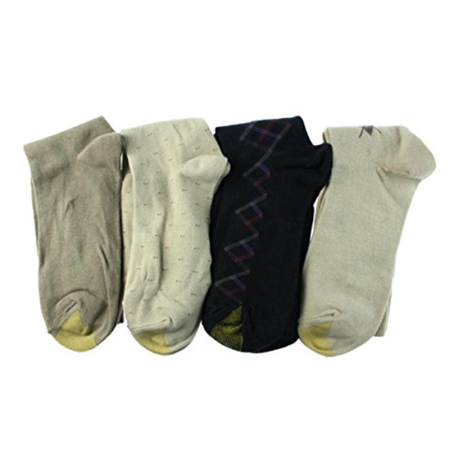 Gold Toe Mens 4PK Crew Dress Socks