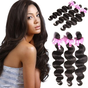 Aliglossy hair Brazilian virgin hair body wave 22 inches 7a grade virgin 100 human hair extensions natural color weave bundles christmas hair pieces for women (22 22 22)