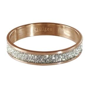Quiges - Stacking Ring Slide-On Ring Rose Gold 20mm