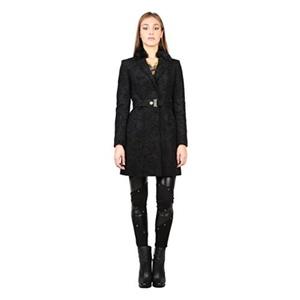 Versace Jeans Womens/Ladies Patterned Fashion Coat (4 US) (Black)