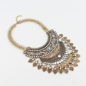 Us-DeSiGn : Fashion Boho Gypsy Ethnic Necklace Vintage Gold/Silve Plated Coins Pendant Jewelry Statement Colares Women Accessories
