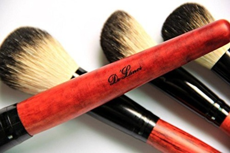 DE'LANCI Luxury 36 PCS Professional Makeup Brushes Tools Sets / Kits Natural Cosmetic Animal Hair Brushes With Coffee Plaid Case Pouch by DE'LANCI