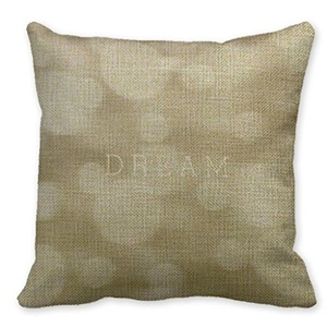 Mooninght Gold Personalized Square Cushion Cover