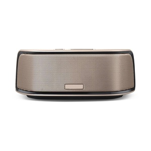 Universal Wireless Portable Bluetooth Speaker for Smartphone Tablet PC, Output 5W x 2 (Gold)