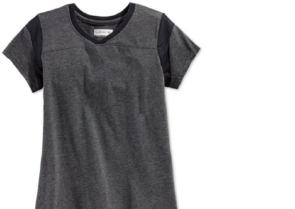 Layer 8 Girls' 7-16 Athletic V-Neck Top (Small)