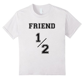 Kids Friend 1/2 T-Shirt 6 White