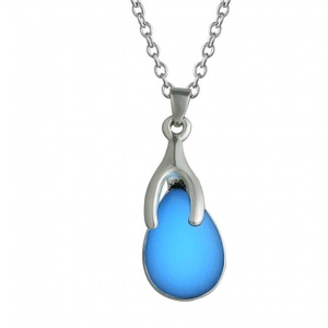 Rinhoo White Gold Plated Violet Glow in the Light Necklace Pendant