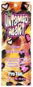 Pro Tan Untamed Heart Super Black Bronzer Ultra Dark Tanning Lotion Sachet 22ml by Pro Tan
