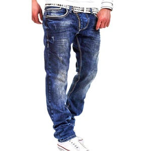 Mens Punk Hipster Loose Free Straight Denim Jeans Pants Trousers Street Wear
