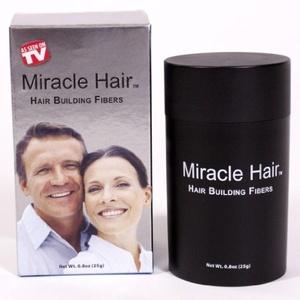 Miracle Hair - Hair Building Fibers - Black by Miracle Hair
