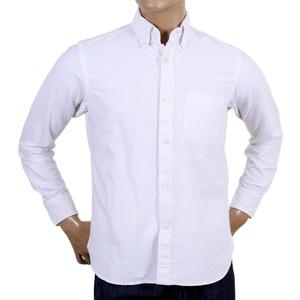 Sugar Cane Made In USA White Oxford Shirt In White CANE4446
