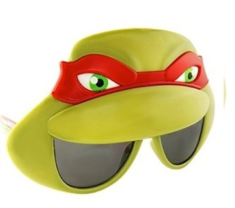 Sunstaches Officially Licensed TMNT Mask Sunglasses, Red by Novelty Sunglasses