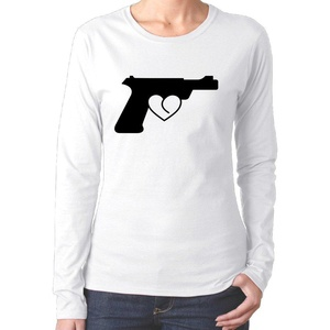 Love Gun For Women Funny T Shirts 100 Cotton