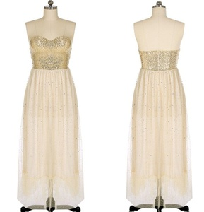 Cocktail Party Prom Gown Dress (x-large, beige)