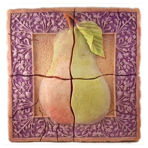 Wall Piece With Pear Design