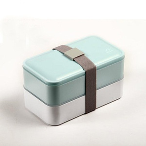 ONEONEY Bento Box Lunch Boxes Food Containers Stackable Microwave and Dishwasher Safe-(Blue,)