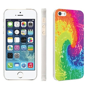 iPhone [SE/5/5S] Phone Case [Skinguardz] [Clear] Fancy Protection [Clear Form Fit] - [TieDye] for iPhone [SE/5/5S]