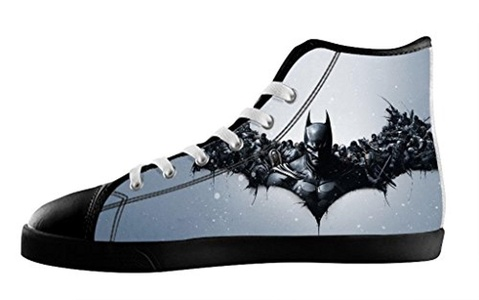 Custom High Top Lace Up Canvas For Men's Shoes For Batman Individualized Design-7M(US)