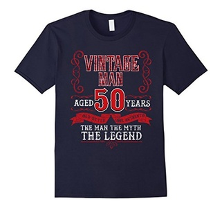 Men's Vintage Man Aged 50 Years - 50th Birthday Gift T-Shirt 2XL Navy