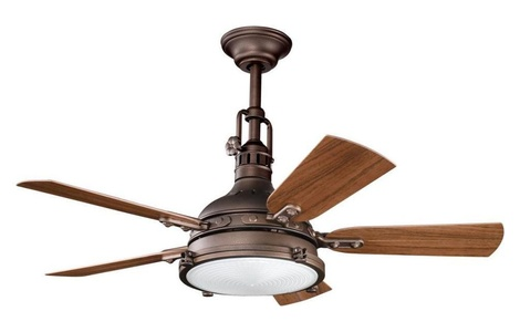 Weathered Copper 44In. Outdoor Ceiling Fan With 5 Blades - Includes 12In. Downrod