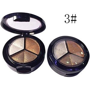 1 PCS 3 Colors Makeup Nude/Smoky Eyeshadow Palette Cosmetic Professional Natrual Matte Metallic Eyeshadow Powder Set