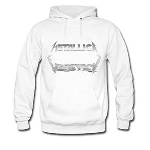 Metallica Black and White Logo Printed For Mens Hoodies
