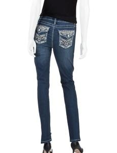 Earl Jean Womens Skinny Jewel Aztec Jeans, Medium Blue (6)