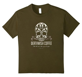 Kids Coffee T-shirt. The World's Strongest Coffee 6 Olive