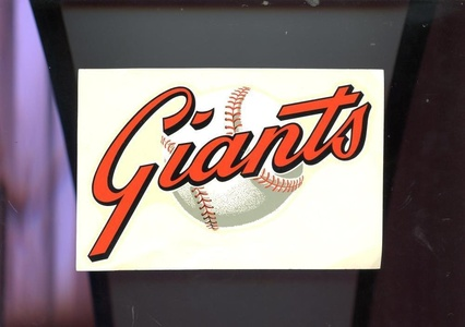 Vintage HYA LAC San Francisco Giants Baseball Window Signs Decal Sticker 1970 V2