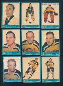 1962 Topps Hockey G avg cond complete set of 66 cards 37488
