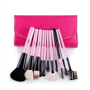 Tmalltide 11Pcs Women Fashion Makeup Brush Ladies Powder Eyeshadow Cosmetic Brushes Set Ms Beauty Tools (pink)