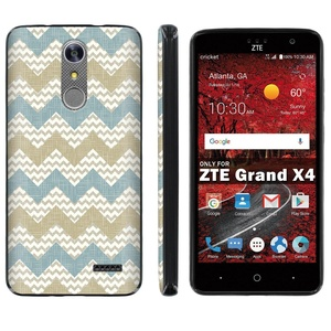 ZTE [Grand X 4] [Z956] Phone Case [ArmorXtreme] [Black] Designer Image [Flexi Gel TPU] - [Tribal Chevron] for ZTE [Grand X 4] [GrandX4]