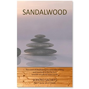 Scented Sachets Sandalwood, 7.0 cu.in | Pack of 4.