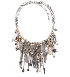 Women's Fashion Vintage Alloy Tassel Pendant Long Necklace Bohemian Statement Jewelry