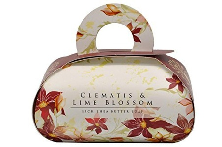 Clematis & Lime Blossom Large Bath Luxurious Gift Soap Rich shea butter body bar with essential oils. by The English Soap Company