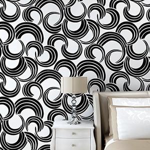 XH@G Wallpaper wallpaper 3D DIY non-woven sofa wallpaper TV background wall 1000cm*53cm , black